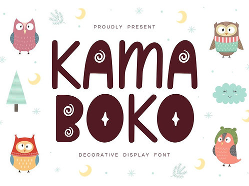 Kamaboko - Decorative Display Font