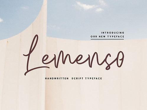Lemenso - Handwritten Script Typeface