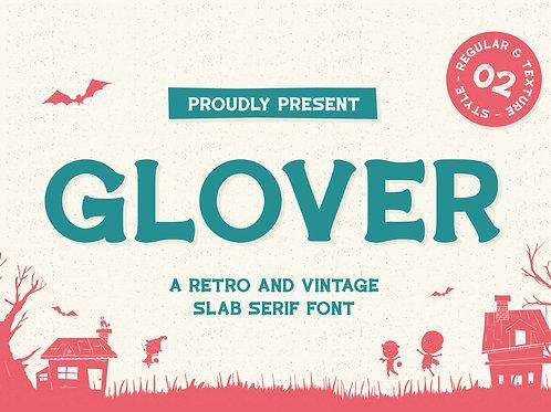 Glover - Vintage Display Bold Typeface