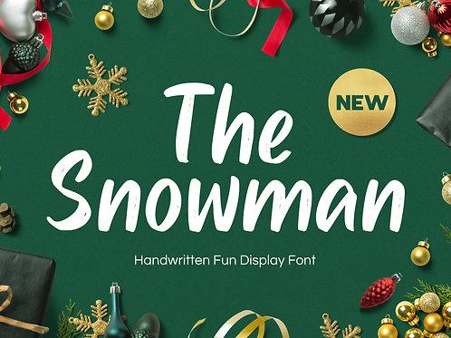 Snowman - Handwritten Fun Font