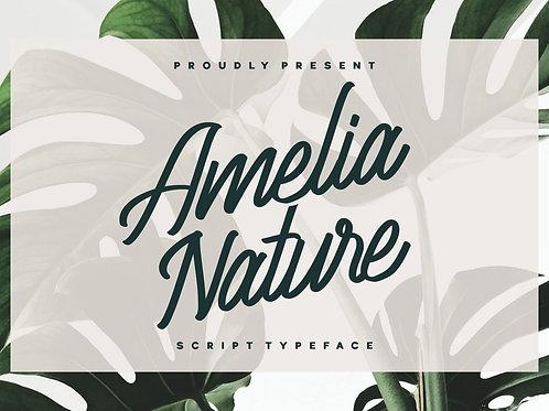 Amelia Nature - Script Typeface