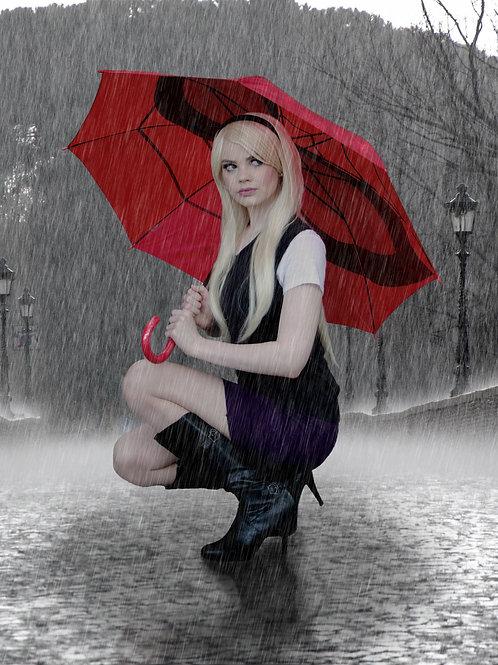 Gwen Stacy Rain Print
