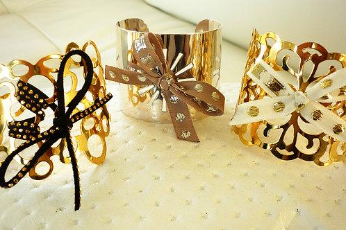 Manchette dorées peuvent êtres recouvertes de tissus