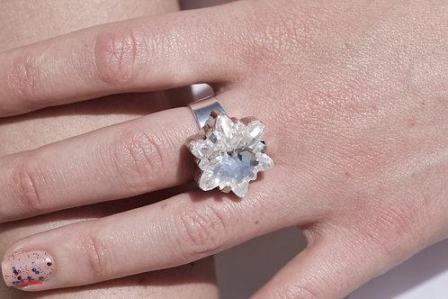 Bague Honorine bague forme d 'Edelweiss Cristal de Swarovski
