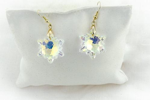 Boucles doreilles fleurs en Cristal de Swarovski