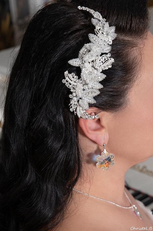 coiffe vintage toute en strass et perles