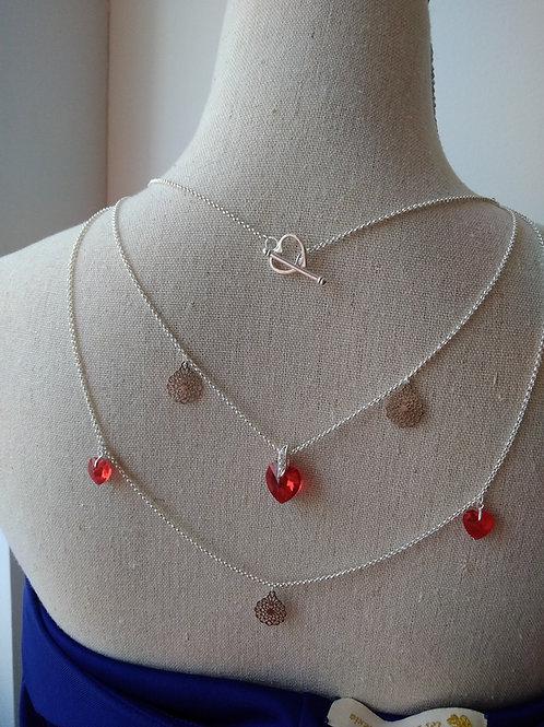 Collier de dos ensemble  boucles et pic à chignon en Cristal de Swarovski