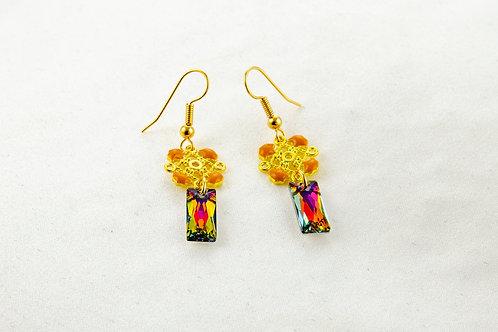 Boucles d'oreilles Paradis avec pendentifs en Cristal de Swarovski