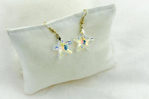 Boucles d'oreilles ma petite étoile de mer en Cristal de Swarovski
