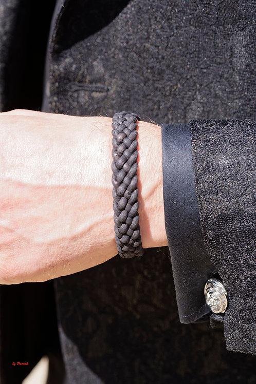 Bracelet cuir tressé Stéphane