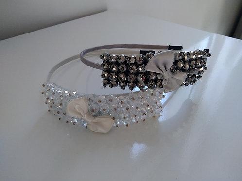 Serres têtes perles en Cristal de Roche