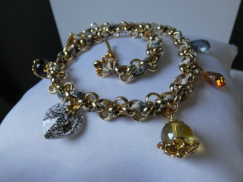 Collier/ Bracelet 2 en 1 peut être réalisé dans d'autres coloris