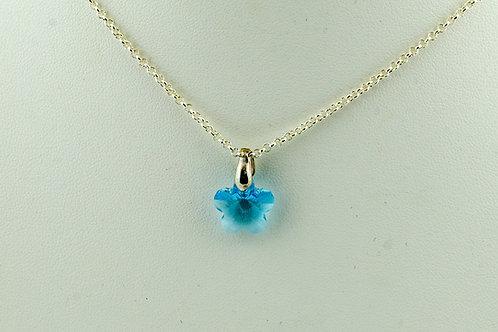 Collier fleur en cristal de Swarovski
