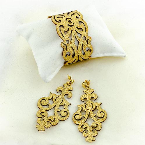 Bijoux en liège collection boucle et bracelet filigranés