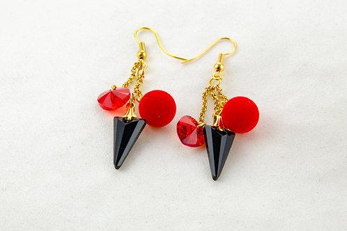 Boucles d'oreille Mylène avec pendentifs en cristal de Swarovski