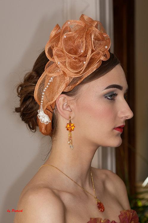 Joli bandeau en sisal orné de perles et de fleurs autres coloris