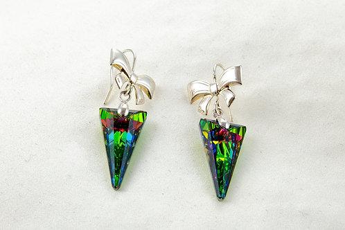 Boucles d'oreilles  Eléonore en argent et Cristal de Swarovski