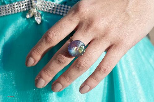 Bague Audrey en Cristal de Swarovski plusieurs reflets