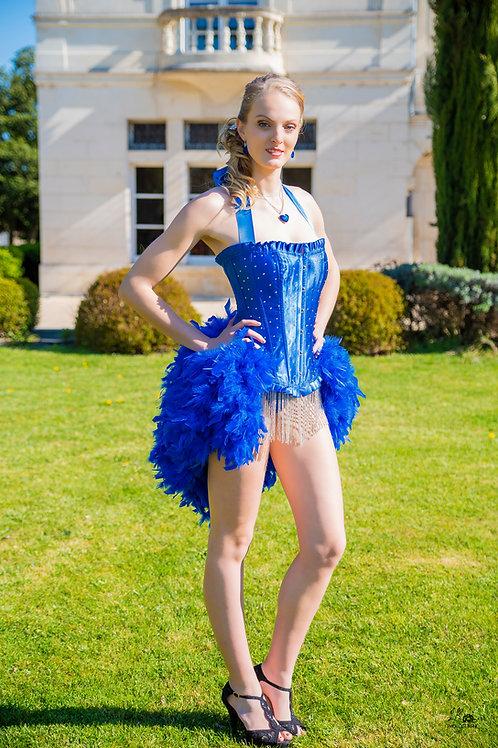 Tenue Cabaret en plus d' Autruche véritable et  corset