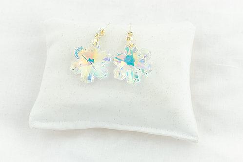 Boucles d'oreilles flocon de neige en Cristal de Swarovski