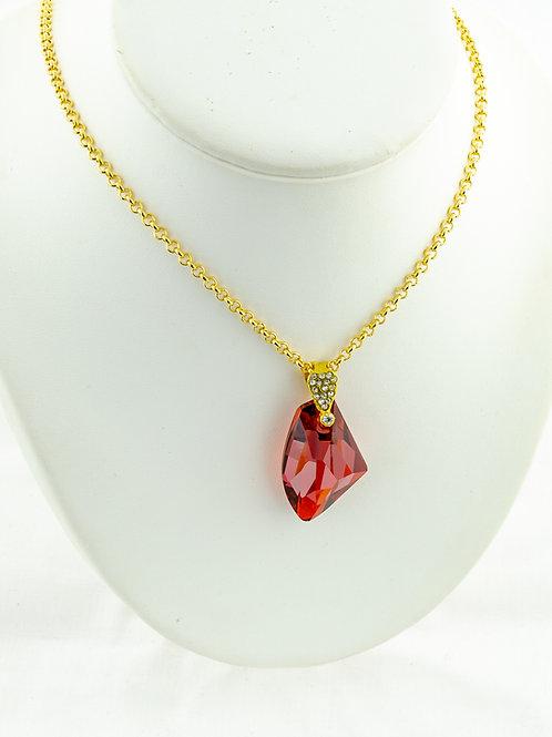 Collier désir rouge en Cristal de Swarovski