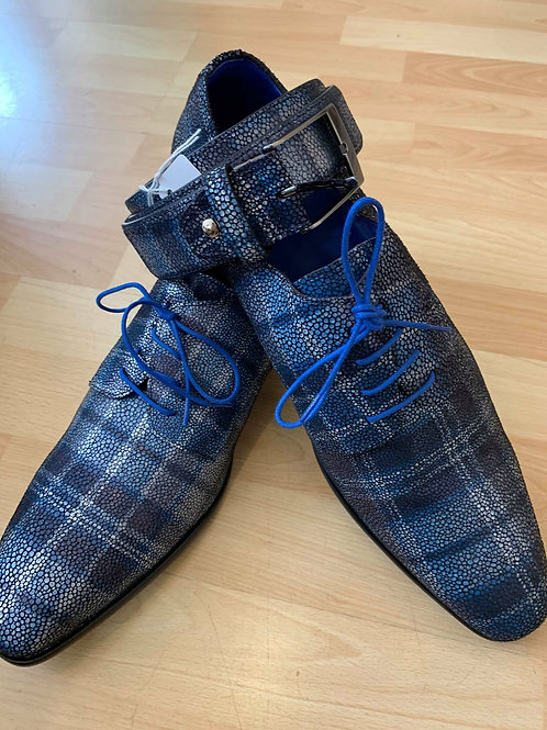 Chaussures à carreaux écossaise tout cuir