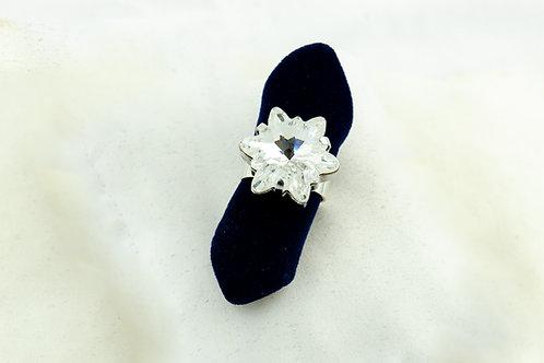 Bague flocon de neige en Cristal de Swarovski