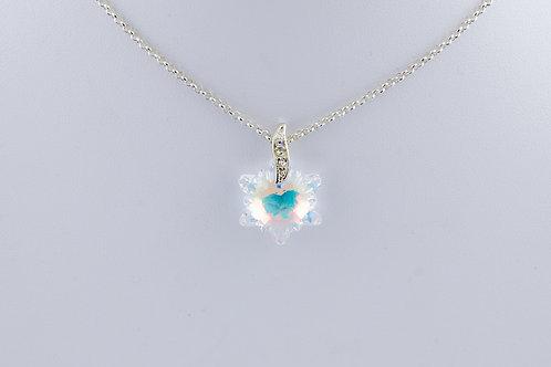 Collier mon flocon de neige en Cristal de Swarovski et argent