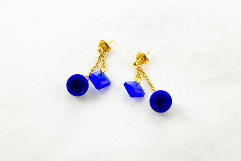 Boucles d'oreille Hermine pendentif en Cristal de Swarovski