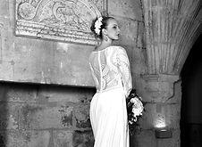 Robe de mariée à dentelles fait sur-mesure