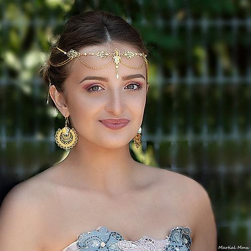 Bijoux de tête doré
