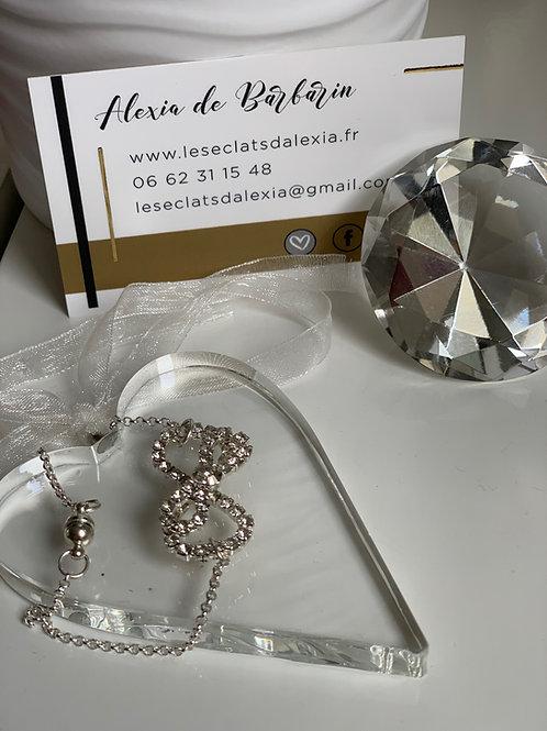 Bracelet noeud en strass