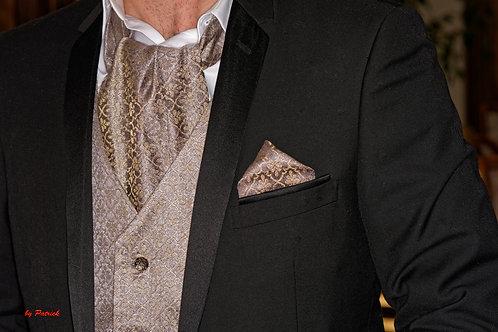 Ensemble accessoire Homme Lavalière, gilet , pochette enBrocard