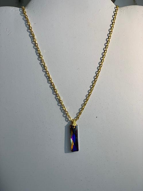 Collier pendentif géométrique