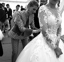 Retouche sur robe de mariée