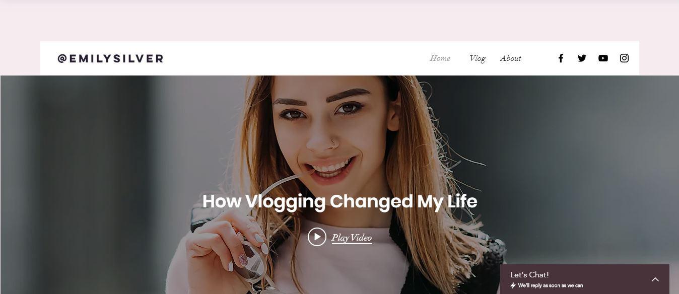 Blogging / Vlogging Website