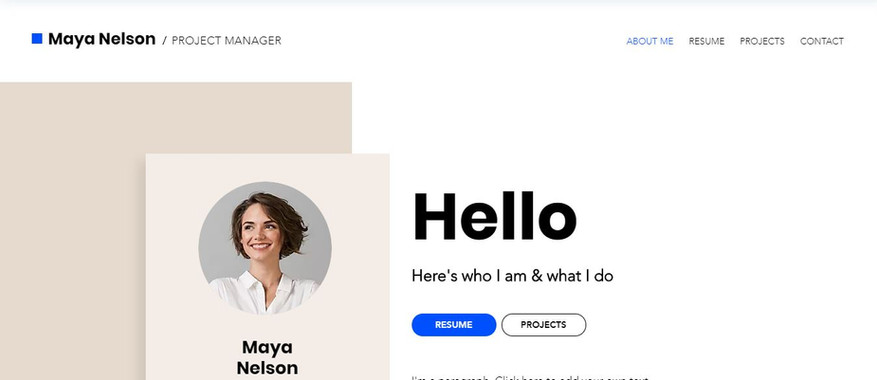 Personal Resume Online