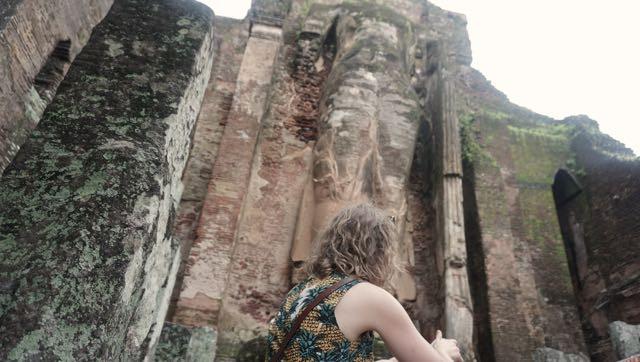 Exploring temples...