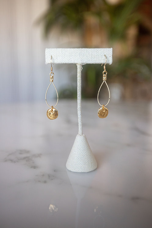 Greek Gold Coin Droplets