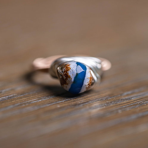 Tibetan Dzi Agate Ring