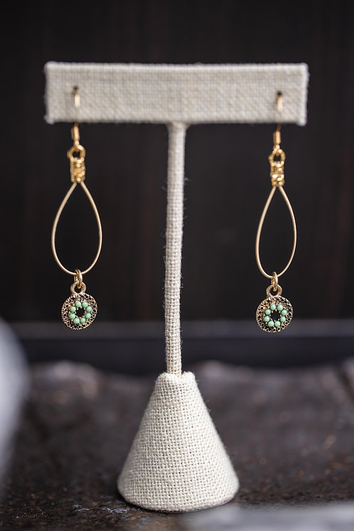 Beaded Mint Droplets
