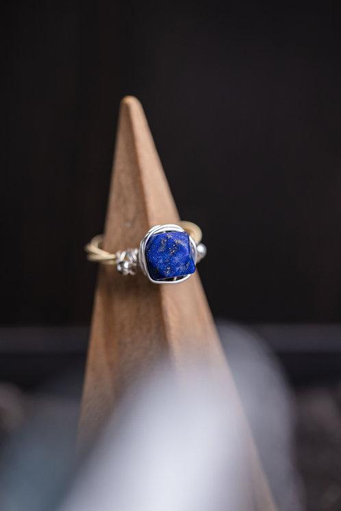Lapis & Silver Ring