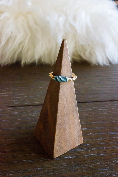Powder Blue Guitar String Ring