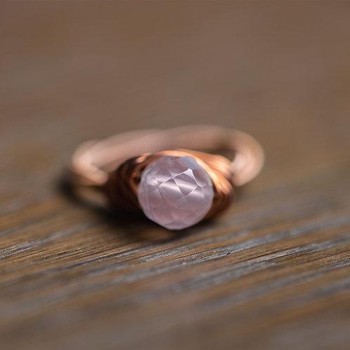 Faceted Rose Quartz Ring