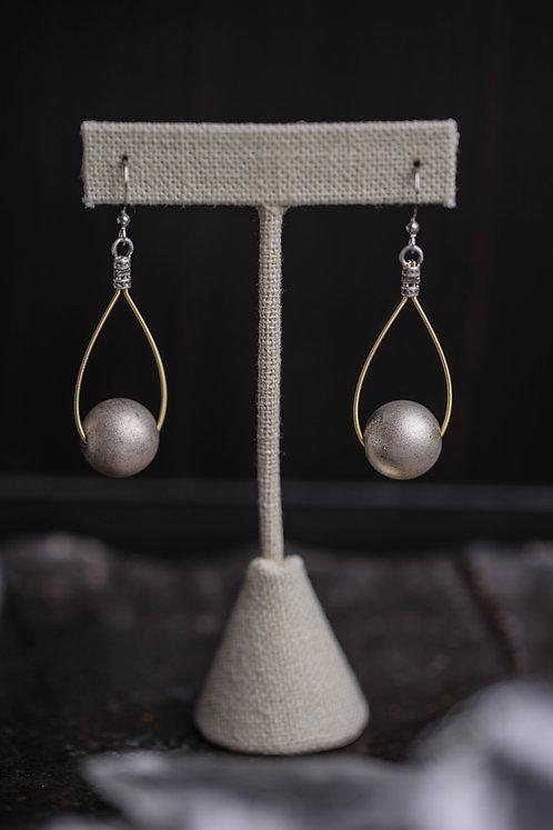 Silver Globe Teardrops