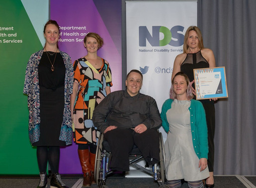 National Award Finalist for Disability Leadership in Australia