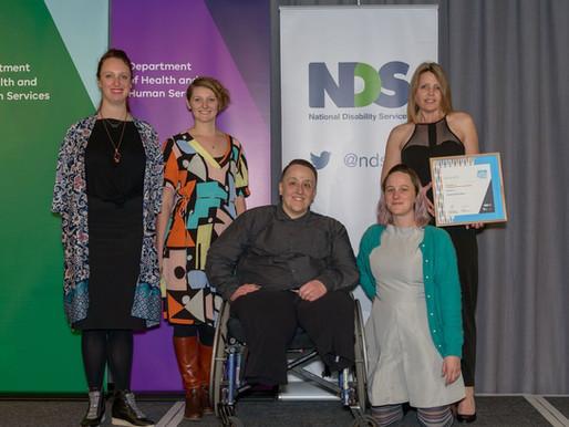 National Award Finalist for Disability Leadership in Australia