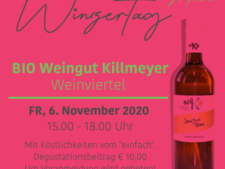 Winzertag mit BIO Weinbau Killmeyer am 6. November 2020