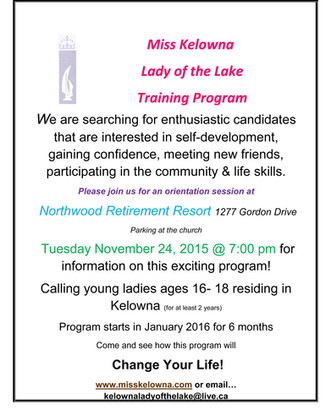 Lady of the Lake Training Program