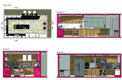 Senior citizen center kitchen- Sections 2D